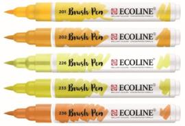 Ecoline Brushpen set 5 - Geel