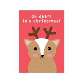 Kerstkaart - Oh Deer, it's Christmas