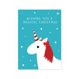 Kerstkaart - Unicorn Christmas