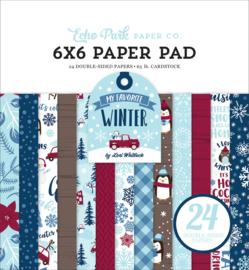 Echo Park My Favorite Winter 6x6  inch Paper Pad