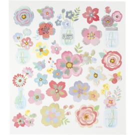 Stickervel - Voorjaarsbloemen 2
