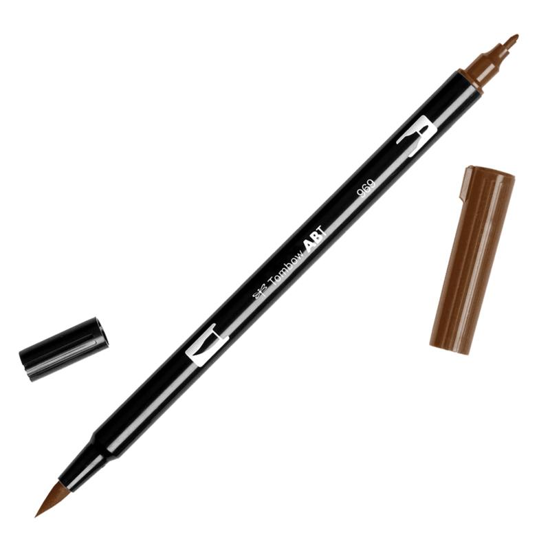 Tombow ABT Dual Brush pen 969 Chocolate