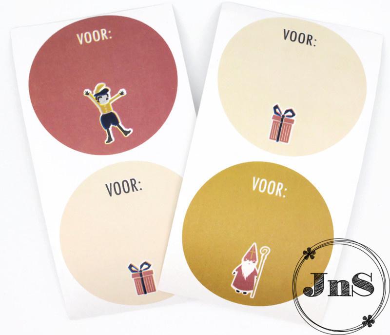 Sint Stickers - Multi color Icoon  5,5 cm -per 12