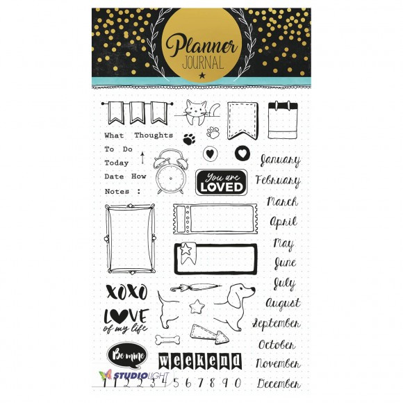 Studio Light - Clear Stamp A5 Planner journal nr. 06