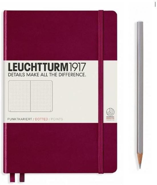 Leuchtturm1917 Dotted Notitieboek A5 - Port Red