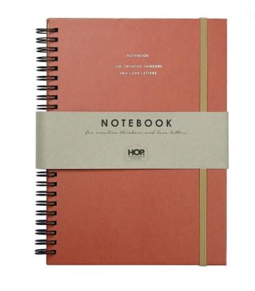 Notebook Big - Brick Red A5