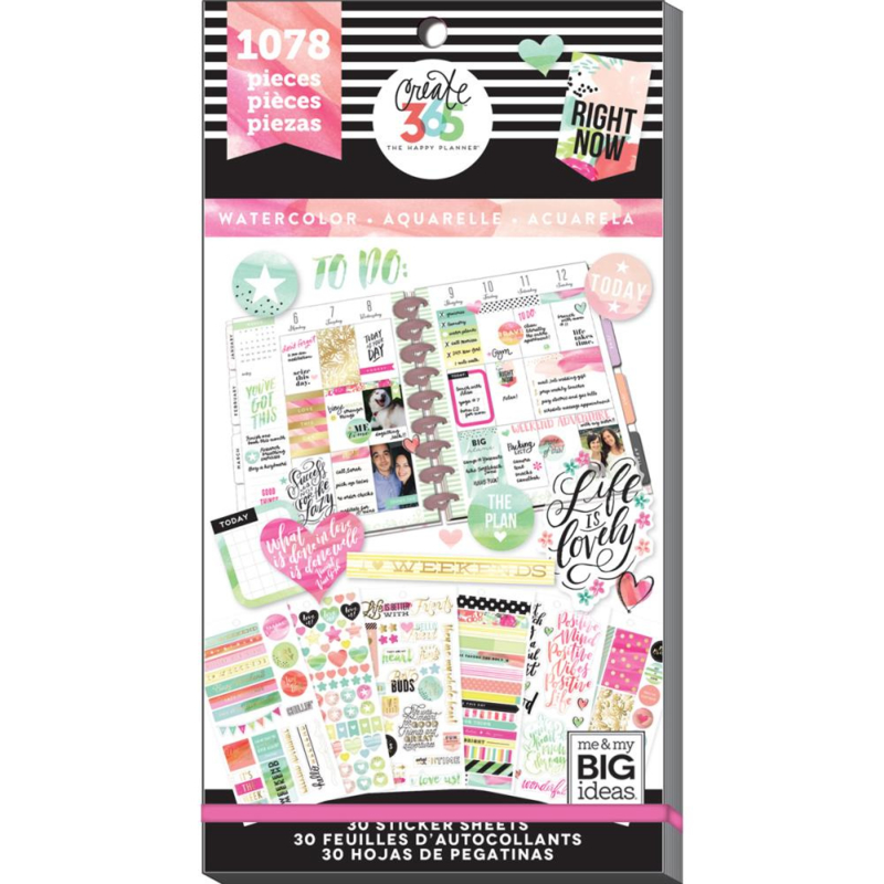 Happy Planner Sticker Value Pack - Watercolor