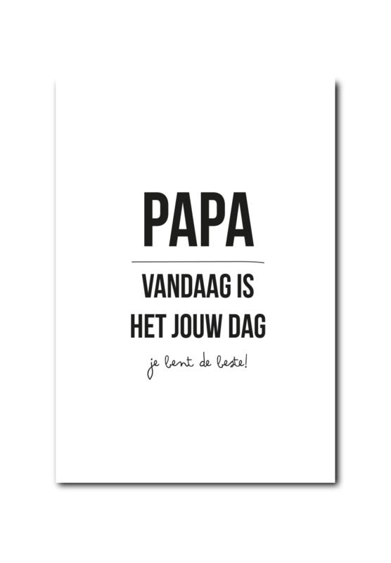 Kaart   Papa het is jou dag!