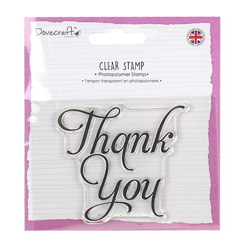 Dovecraft Clear Stamp Thank You