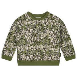 Leopard camo sweater olive rose - Daily Brat
