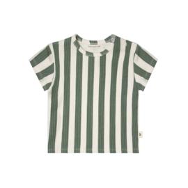 T-shirt streep groen - Yourwishes