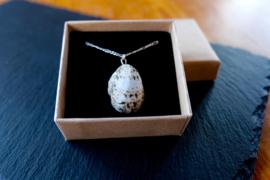 Oorschelp nummer 3 - zilveren ketting