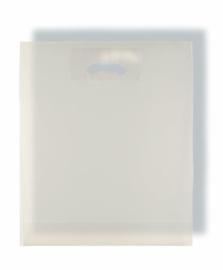 Plastiktragetasche aus LD-PE-Folie mit Griffloch - Format 38x45+05 cm