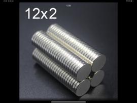 Extra sterke magneetjes 12mm x2mm