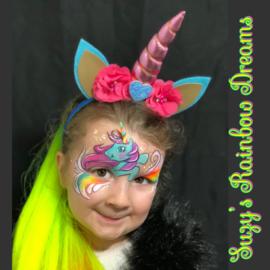 Unicorn haarband 3d