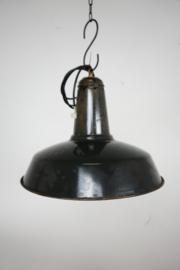 Emaille lamp zwart