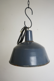 Emaille lamp blauw