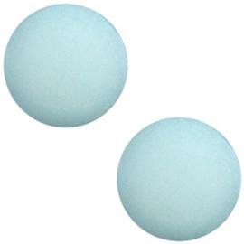 Polaris cabochon 7mm matt 7mm Haze blue, 2 stuks