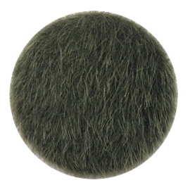 Faux fur cabochons Army green 35mm