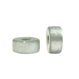 Polaris Elements kralen disc 6mm Granite green 5 stuks