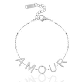 "Roestvrij stalen (RVS) Stainless steel armbanden ""amour"" Zilver"