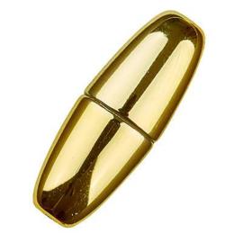 Magneet slot,  Goud voor 6mm koord