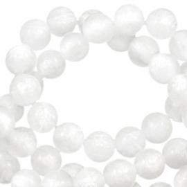 Polaris kralen rond 6 mm Mosso shiny Brilliant white 10 stuks