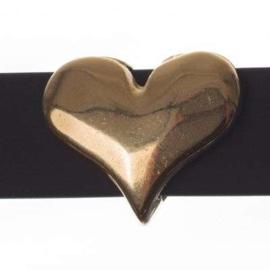 DQ  schuiver hart goud, 16mm