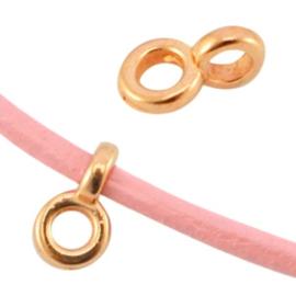 DQ metaal hanger met oog Ø2.2mm Rosé goud, 4 stuks (nikkelvrij)