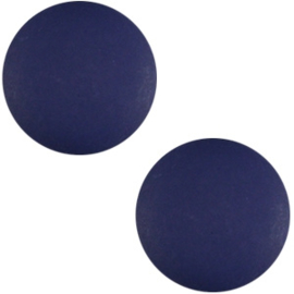 Polaris cabochon 7mm matt 7mm Midnight blue, 2 stuks