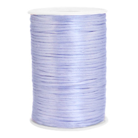 Satijn draad 2.5mm Soft lavender purple, 2 meter