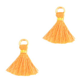 Kwastje 1 cm Gold-orange peel