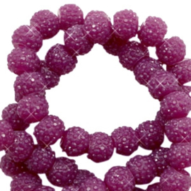 Sparkling beads 6mm Butterfly purple (10 stuks)