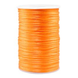 Satijn draad 2.5mm Bright Neon orange, 2 meter