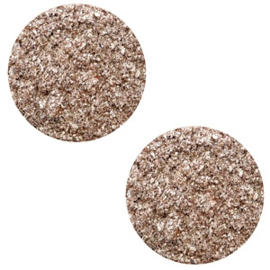 12 mm platte cabochon Polaris Elements Goldstein Taupe brown