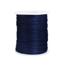 Satijn draad 1.5mm Dark blue, 2 meter