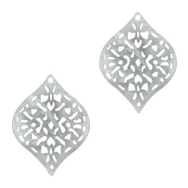Polaris barok hangers druppelvorm Ice flower grey