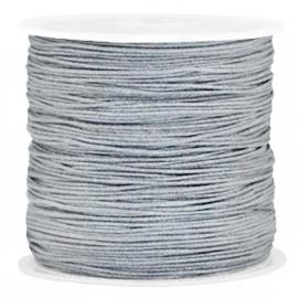 Macramé draad 0.8mm Grey (5 meter)