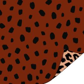 Coated Cadeaupapier 2m - Dots Terra -  30x200 cm