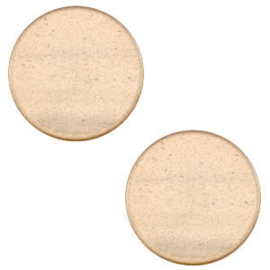 7 mm platte cabochon Super Polaris Hazel brown, 2 stuks