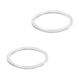 Onderdelen DQ metaal dichte ring ovaal Antiek zilver (nikkelvrij)
