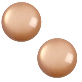 Polaris cabochon 7mm Jais soft tone Mandora brown, 2 stuks