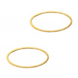 Onderdelen DQ metaal dichte ring ovaal Goud (nikkelvrij)