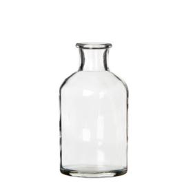 Ø7 h.12 cm round glass bottle