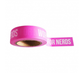 "Masking tape Pink ""words are for nerds"""