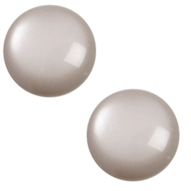 Polaris cabochon 7mm Jais soft tone Acciaio grey, 2 stuks