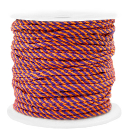 Maritiem koord 2mm Orange-purple, 2 meter