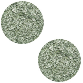 12 mm platte cabochon Polaris Elements Goldstein Chinois green grey