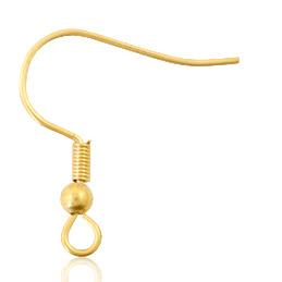 Roestvrij stalen (RVS) Stainless steel onderdelen oorbellen Goud, 10 stuks