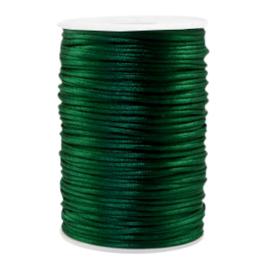 Satijn draad 2.5mm Dark green, 4 meter